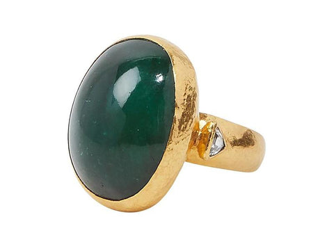 Gurhan 24k Gold Rune Center Stone Ring