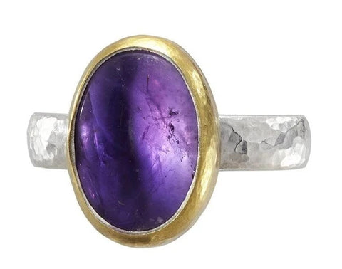Gurhan Sterling Silver Amethyst Galapagos Center Stone Ring