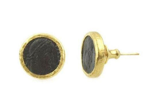 Gurhan 24k Gold Antiquities Stud Earrings