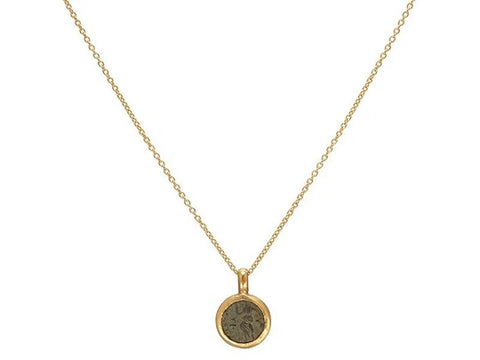 Gurhan 24k/22k Gold Antiquities Coin Pendant Necklace
