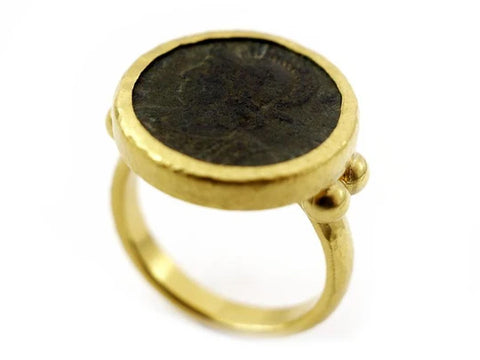 Gurhan 24k Gold Antiquities Coin Ring