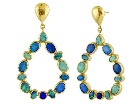 Gurhan Opal 24k Gold Pointelle Dangle