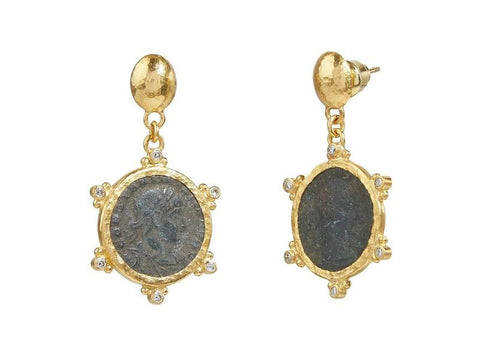 Gurhan 24k Gold Antiquities Dangle Earring