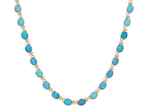 Gurhan Opal 24k Gold Rune All Around Necklace