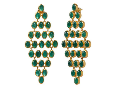 Gurhan 24k Gold Pointelle Cluster Earrings