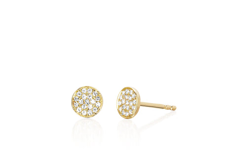 EF - Diamond Mini Disc Stud Earring