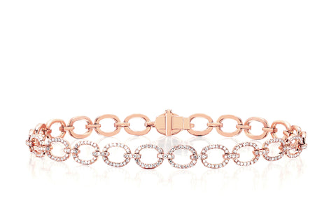 EF - Diamond Chain Link Bracelet