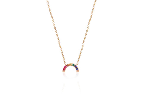 EF - 14k Rose Rainbow Necklace