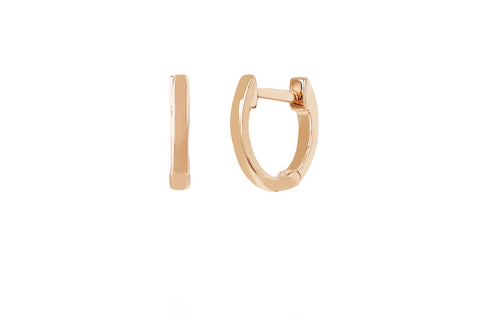 EF - 14k Rose Mini Huggie Earring