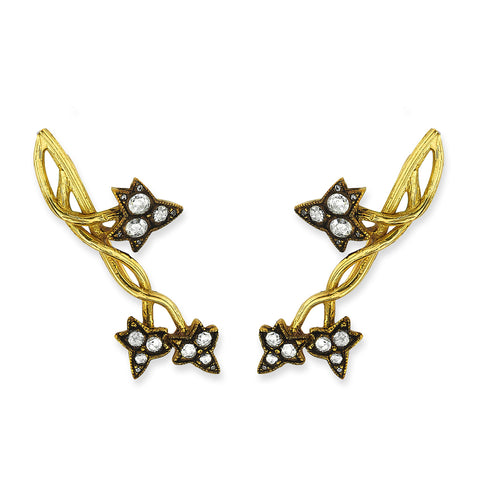 Aida Bergsen Chunky Ivy Climber Earrings