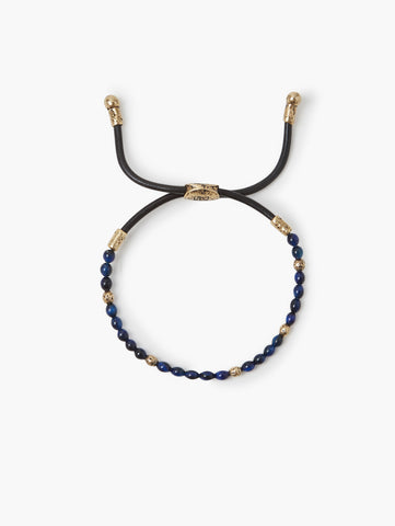 John Varvatos -Brass Blue Tiger Eye Beads BRACELET