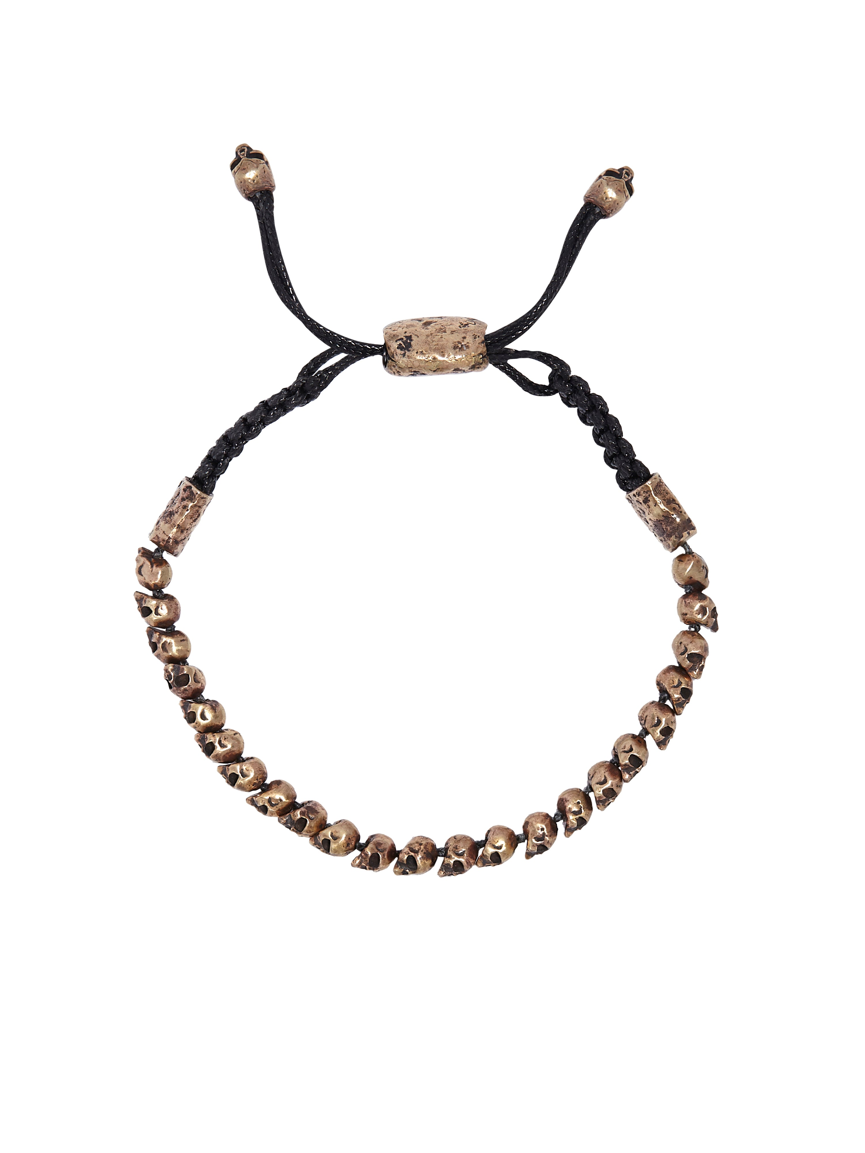 John Varvatos - 24 Brass Skull Beads Adjustable BRACELET