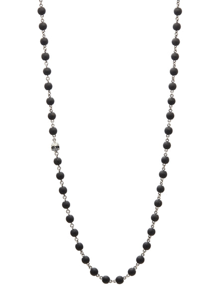 John Varvatos - Silver Skull Bead NECKLACE