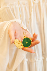 Aida Bergsen Green Dove Locket