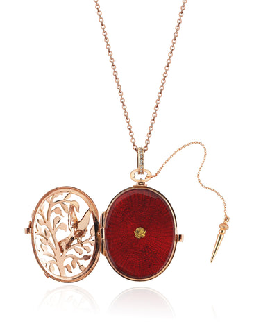 Aida Bergsen Red Dove Locket