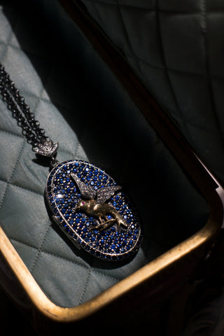 Aida Bergsen Deep Blue Dove Locket