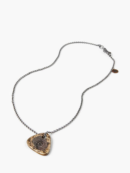 John Varvatos - BRASS GUITAR PICK NECKLACE