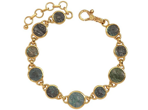 Gurhan 24k Gold One-of-a-Kind Antiquities Bracelet with Roman Coins