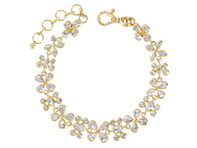 GURHAN Gold One-of-a-Kind Cluster Bracelet, from the Pointelle Collection, White Diamond 7.45ct 7-8 inches