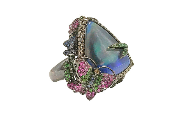 Wendy Yue - Opal Ring With Butterfly Accent - HM21740A
