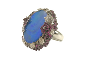 Wendy Yue - Opal Ring with Rose Garden Accent - HM21743