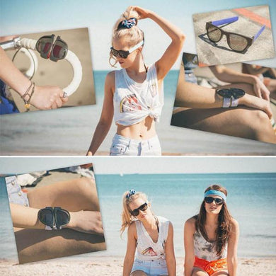 I Want It Apparel Blue Snap Shades Sunglasses