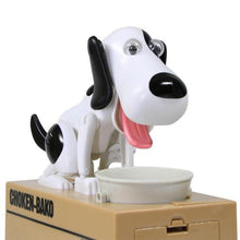 I Want It Baby Black with White Puppy Money Bank
