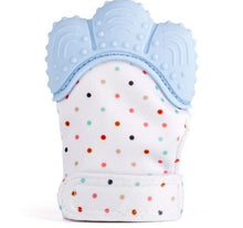 I Want It Baby Blue Baby Teething Mitten
