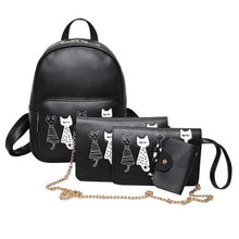 I Want It Home Black Cat Bag - 4 Piece Set