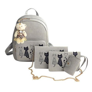 I Want It Home Gray Cat Bag - 4 Piece Set