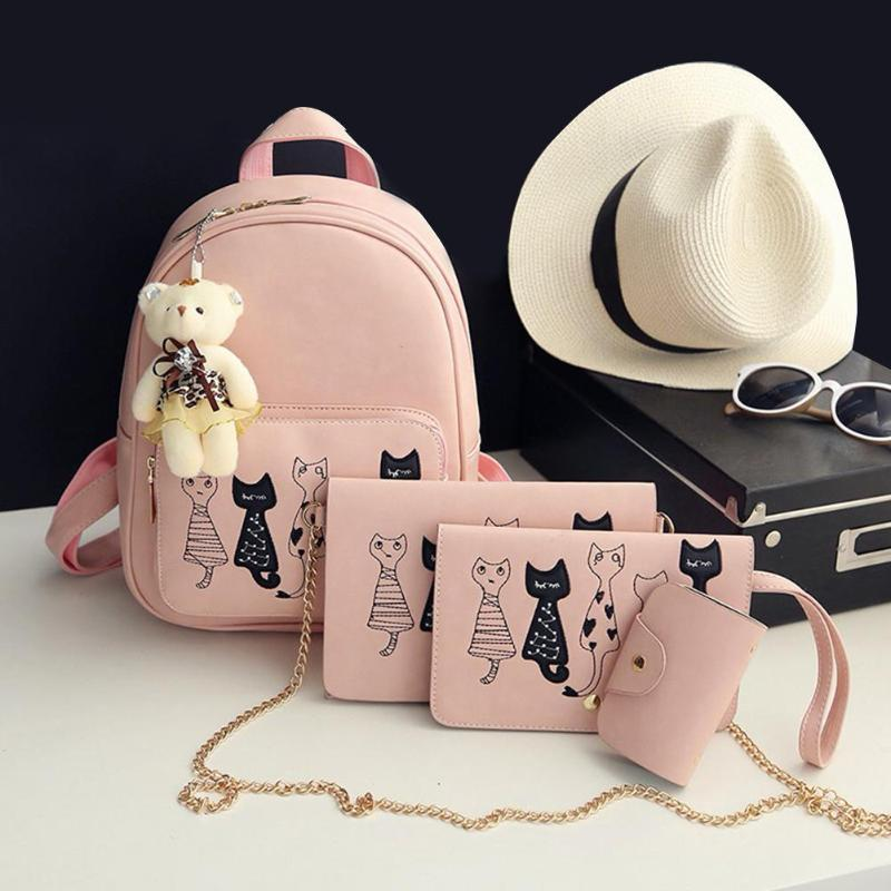 I Want It Home Pink Cat Bag - 4 Piece Set