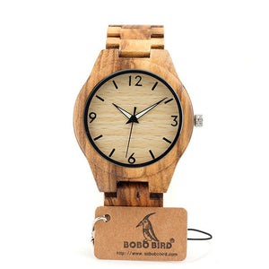 I Want It Jewelry BOBO BIRD V-G24 Zebra Mens Watch