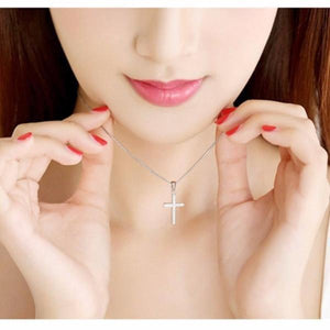 I Want It Jewelry Silver Cross Pendant & Necklace