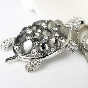 I Want It Jewelry Silver Turtle Pendant Necklace