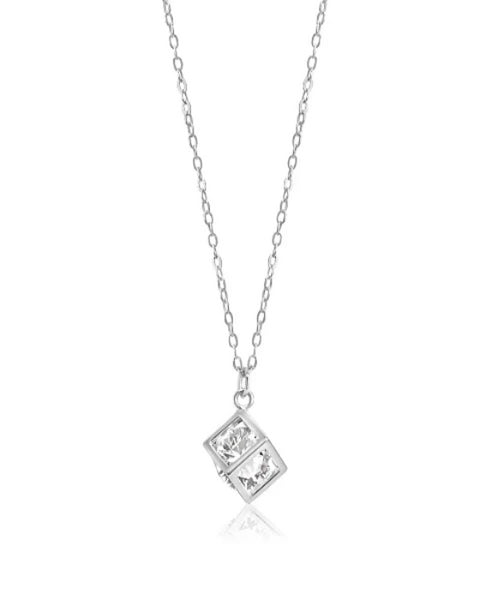 Geometric Cubist Sterling Necklace