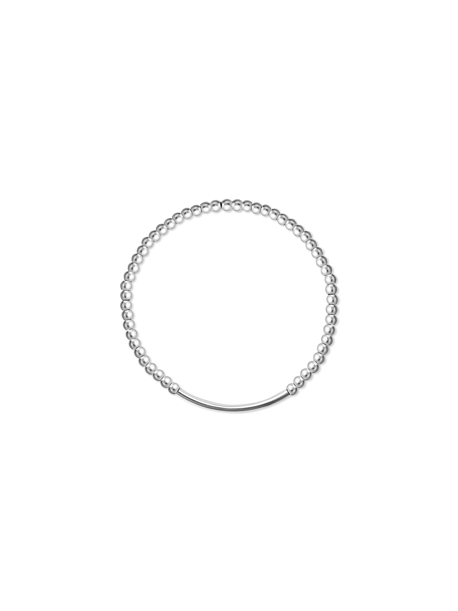 Sterling Bead (3mm) Stretch Bracelet with tube