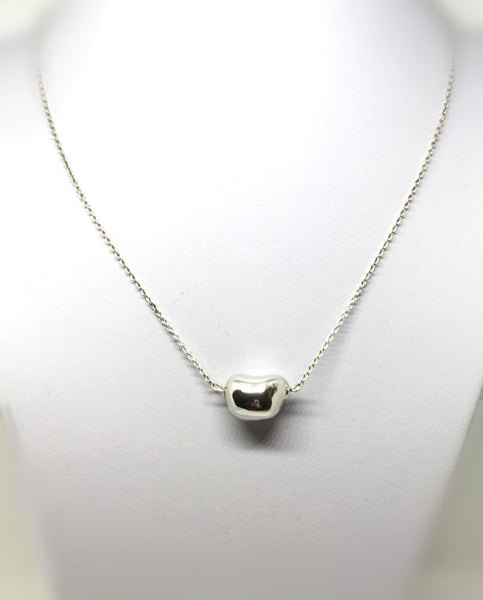 Sterling Nugget Necklace