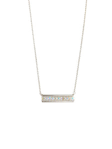 Sterling Swarovski Bar Necklace
