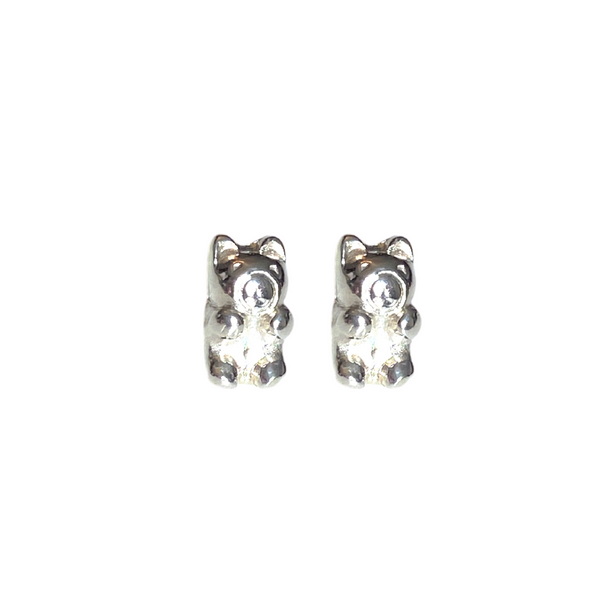 Sterling Silver Gummy Bear Stud Earrings