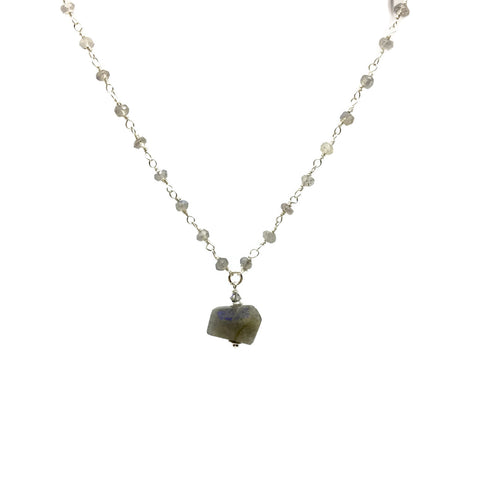 Stone Chain Labradorite Necklace