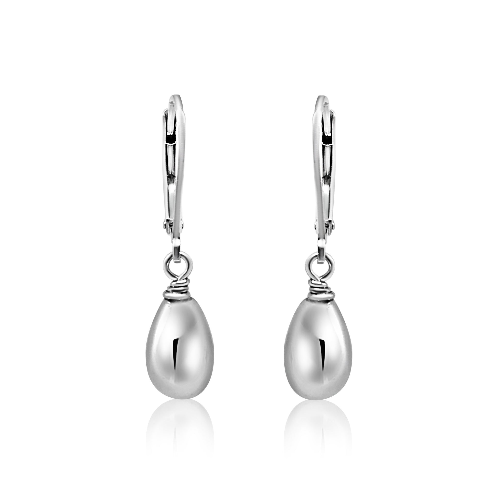Classic Oval Drop Earrings