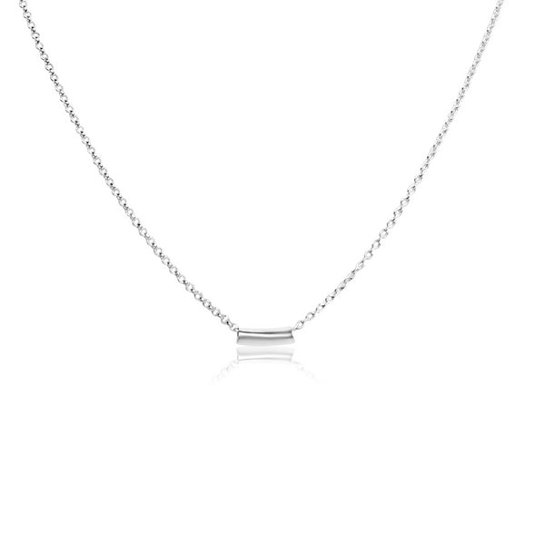 Sterling Petite Tube Necklace
