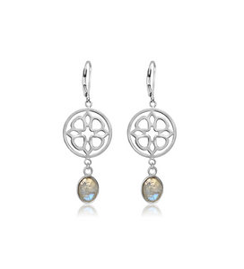 Quatrefoil Gemstone Earrings