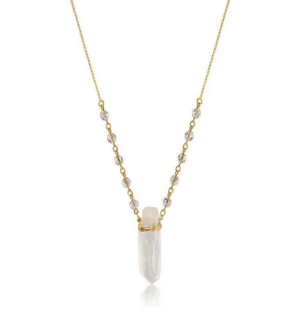 Genuine Quartz Necklace