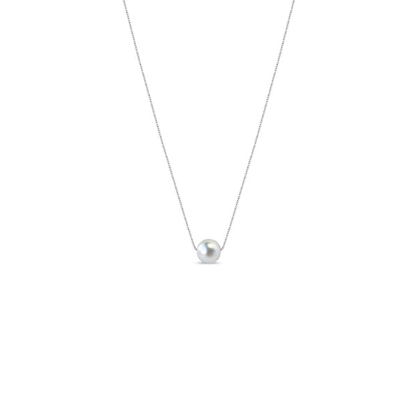 Matte Ball Necklace - Sterling Silver