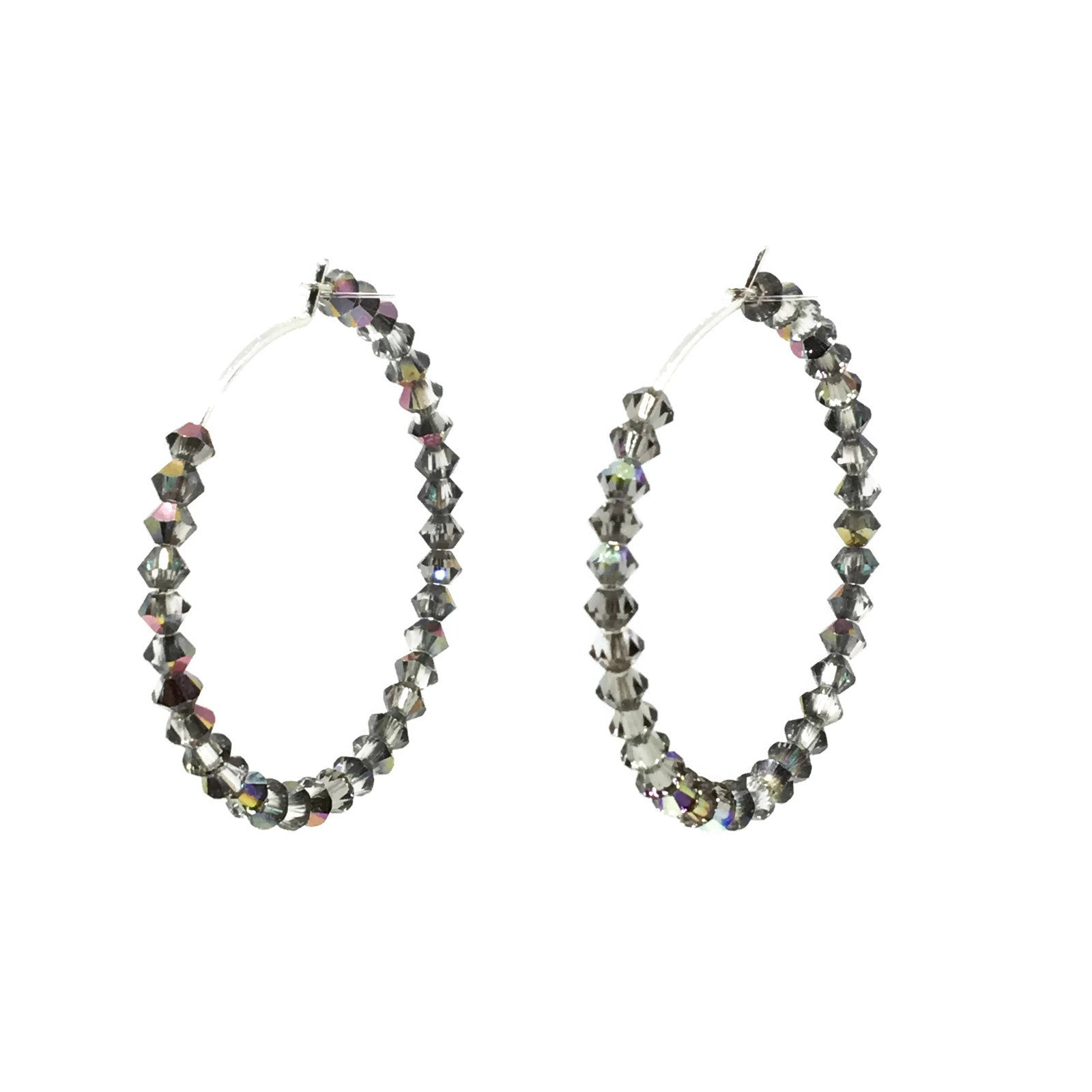 Vitrail Crystal Hoop Earrings