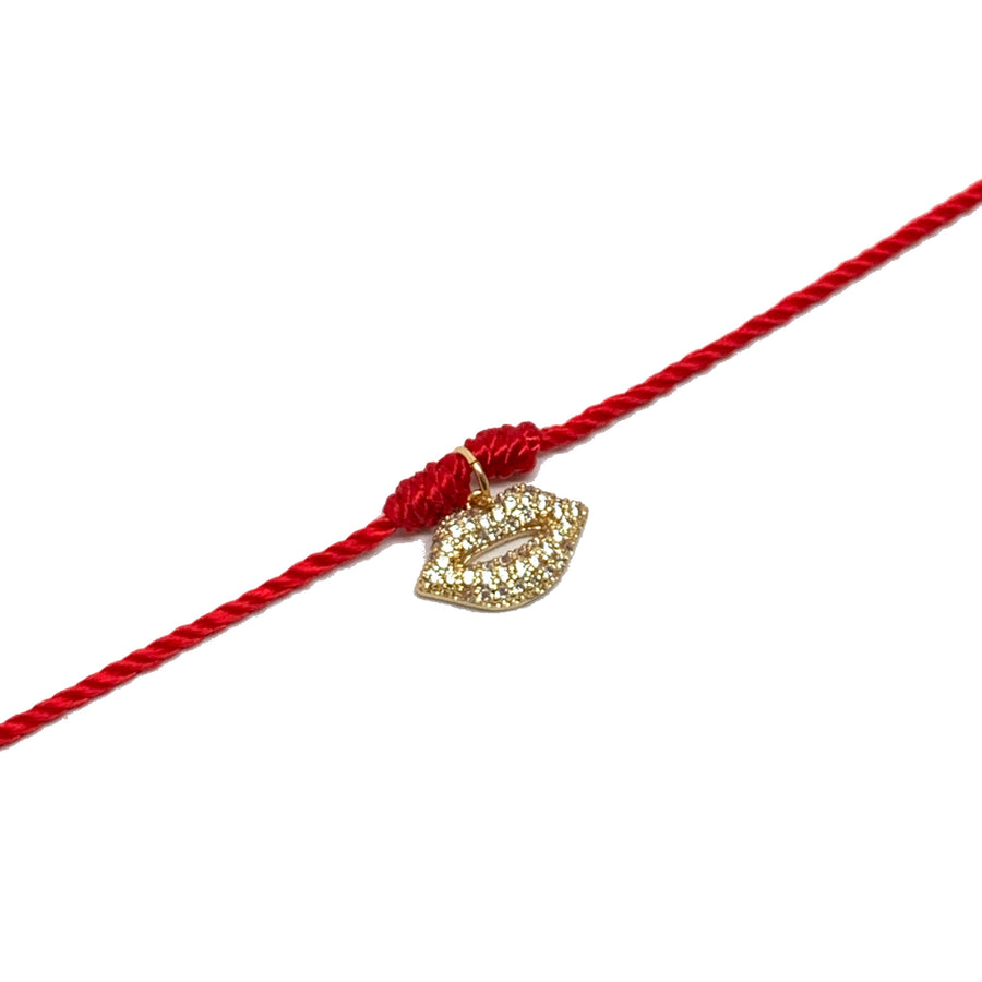 Red Thread & Kiss Necklace