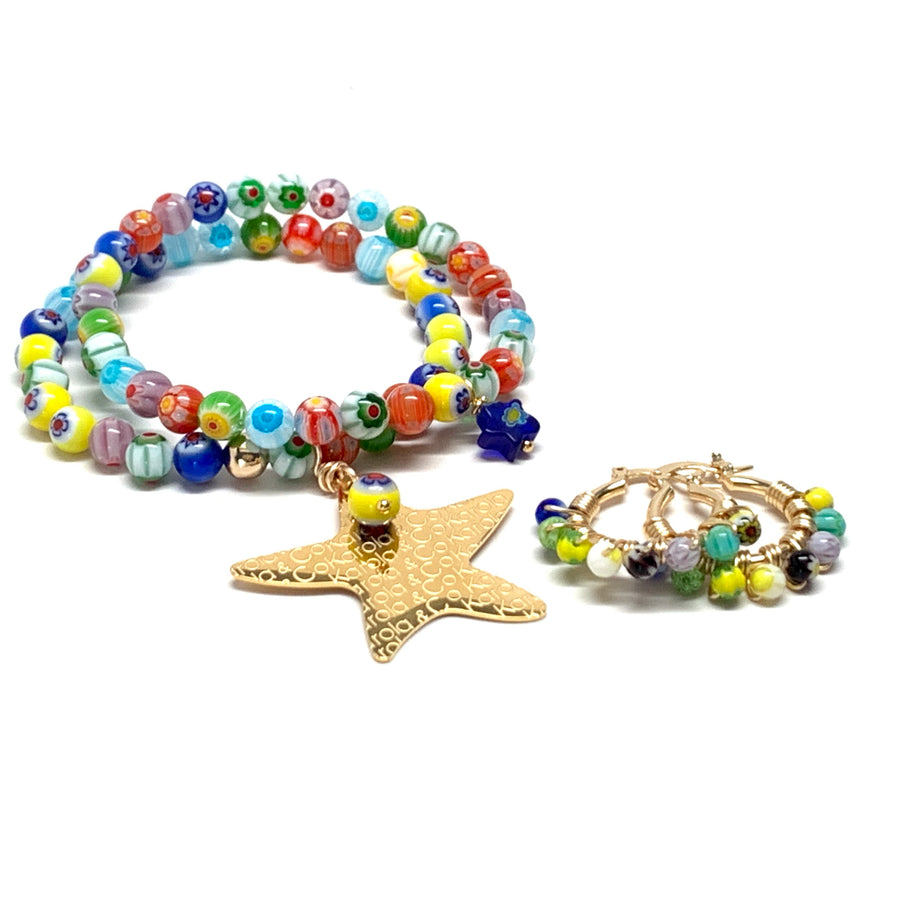 Millefiori Star Set