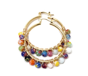 MILLEFIORI Medium Hoop Earrings
