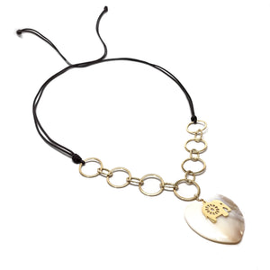 Mother Pearl Heart Necklace